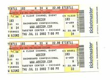 Weezer Unused Concert Tickets From July 11, 2002