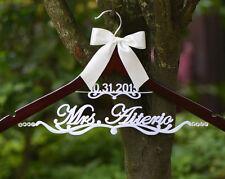 Wedding Hanger Personalized w Bride Bridesmaid Name Bridal Wedding Gift EL020