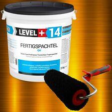 Glätt-Set 20kg Fertigspachtel + Profi Glättwalze 230mm Gipsspachtel LEVEL+SET209