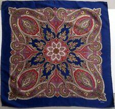 Echo silk scarf gorgeous classic paisley vintage signature background