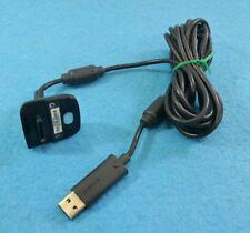 MICROSOFT XBOX 360 PLAY AND CHARGE KIT USB MANDO NEGRO ORIGINAL X816689-004