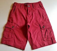 Mens AMERICAN EAGLE burgundy red shorts 26 NEW classic active flex cargo