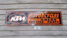NEW!! 2 VERSIONS KTM MOTORCYCLE DEALER/SERVICE SIGN/AD PANEL W/LOGO GARAGE ART