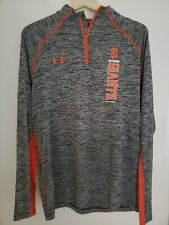 Mens Under Armour Loose HeatGear 1/4 Zip Pullover Sf Giants Sz L Nwot Nice