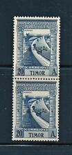 PORTUGAL TIMOR 1947  PAIR WITH LIBERTACAO OVERPRINT SCOTT 245J CATALOG $155