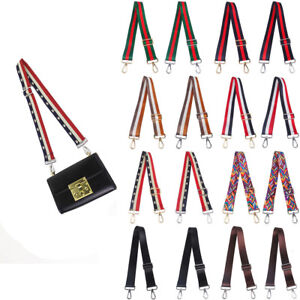 DIY Ladys Adjustable Shoulder Bag Strap CrossBody Canvas Replacement For Handbag