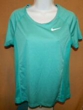 NIKE RUNNING Dri-Fit Teal Green SS Tee / T-Shirt Women's Size Large