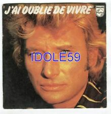 Disques vinyles singles pour chanson française, Johnny Hallyday