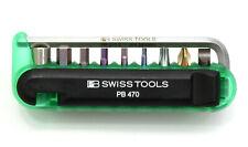 Pb swiss Tools 470. Green biketool bicicleta herramienta bolsillos herramienta set nuevo