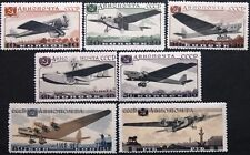 RUSSIA SOWJETUNION 1937 571-77 C69-75 Aviation Exhb Moscow Flugausstellung MNH 3