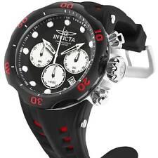 @NEW Invicta 50mm Venom Cobra Quartz Chronograph Silicone Strap Watch Red 22349