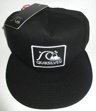 MENS QUIKSILVER GRAF BLACK SNAPBACK ADJUSTABLE HAT CAP ONE SIZE