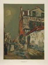 Maurice Utrillo, Walled Street, Screenprint Poster