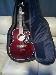 Takamine G Series GN75CE WR Wine Red NEX size acoustic guitar and Plush case
