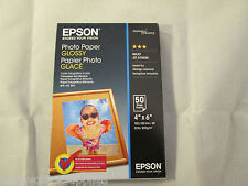 Original Epson Paper S042547 Glossy Photo Paper 200gsm 50 Sheets 10x15cm 4x6''
