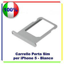 SLOT PORTA SIM TRAY PORTA SCHEDA VASSOIO PER IPHONE 5 ARGENTO SILVER