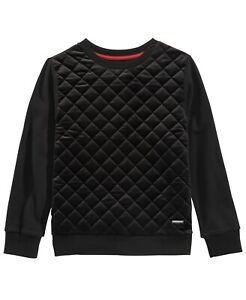 Sean John Boy'S Black Long-Sleeve Sweater Pullover Crew-Neck Sweatshirt Size M