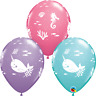 """11"""" PRINT FUN UNDER THE SEA ASSORTED PACK OF 50 QUALATEX BALLOONS PARTY SUPPLIES"""