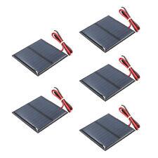 5pcs Mini Solar Panel Small Cell Module for Street Lamp 5.5V 80mA 60x60mm