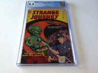 STRANGE JOURNEY 2 CGC 5.5 FLYING SAUCER ALIEN POLICE COP VERY RARE FARRELL COMIC