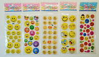 3D Sticker Smiley 1-20 Bögen Aufkleber Kinder Emoji Smeily Gesichter Glück