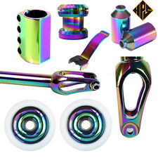 PRO STUNT SCOOTER SET OIL SLICK 110mm WHEELS ABEC 11 BEARING PEGS SCS CLAMP FORK