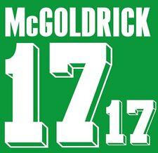 McGoldrick #17 Ireland World Cup 1994 Home Football Nameset for shirt