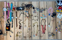Junk Drawer Disney Jewelry Lot- Vintage And Modern- Lots Of Pieces