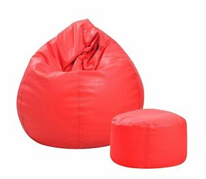 New Combo Couchette XXL Bean Bag Cover with Footrest Bean Bag Without Beans
