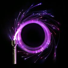 FibreFlies PixelWhip v3 - LED Fibre Pixel Whip - Glow in the Dark Light Up Whip