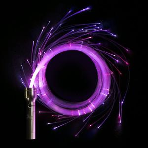 FibreFlies PixelWhip v4 - LED Fibre Pixel Whip - Glow in the Dark Light Up Whip
