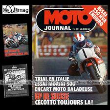 MOTO JOURNAL N°421 MANUEL SOLER MORINI 500 HVA HUSQVARNA 250 WR KRAMER 400 1979