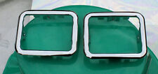 Corvette Ash Tray Bezel pair  1953 1954 1955 Stainless square trim ring