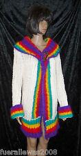 handgestrickt Strickjacke Angora Mohair sehr exclusiv M L hand knitted  Cardigan