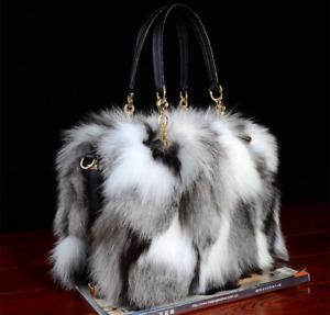 Women's Fox Fur Bag Handbag Brand Party Ladies Hand Bags Luxury Evening Bag