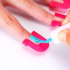 26 Pcs Pro Curve Shape Spill-proof Finger Cover Sticker Nail Polish Holder Hot