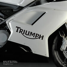 2x Triumph Logo Motorcycle Sticker Decal - Bike Vinyl Motorbike Race Bonneville