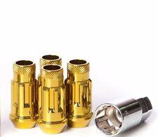 Muteki SR48 Open End Locking Lug Nuts in Gold Chrome 12x1.25 | 32901Z