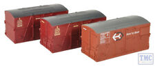 36-004A Bachmann OO BD Large Containers Bauxite & Crimson (x3)