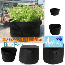 Fabric Plant Pots Grow Bags Container Planter Bag Pot Vegetable 3 5 7 10 Gallon