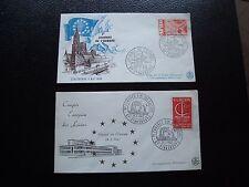 FRANCIA - 2 sobres 1966/1967 (europa) (cy94) french