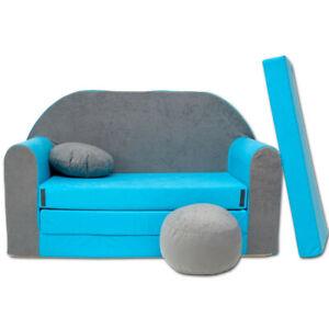 Spielsofa 1B Kindercouch 3in1 Doppelsofa Minisofa Kinder Sofa Couch gemütlich
