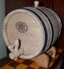 1,3 Gallon NEW NOW THICKER WOOD Europe Oak Rum Whiskey Barrel Beer Keg Wine Hand