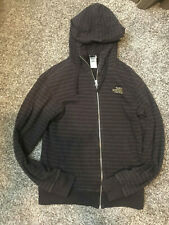 The North Face Brown Striped Fill-Zip Hoodie S