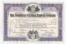 Northern Central Railway Co. Stock Certificate