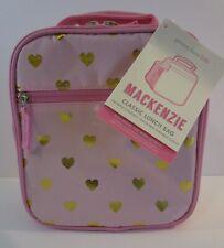 💟 NWT Pottery Barn Kids PINK w/GOLD HEARTS Classic MACKENZIE Lunch Bag Box 💟