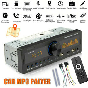 Car Bluetooth Stereo Audio In-Dash FM Aux Input Receiver MP3 Radio Player TF USB
