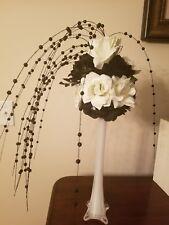 Black & Cream flower ball only vase not available
