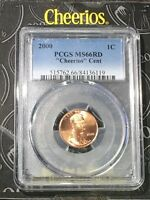 "2000 Lincoln Cent PCGS MS66RD ""Cheerios"" Cent - RicksCafeAmerican.com"