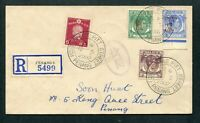 1942 Malaya Japanese Occup. Mixed stamps on Censor Cover Penang Pitt Street Pmk